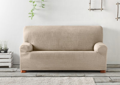 funda de sofa ajustable gris