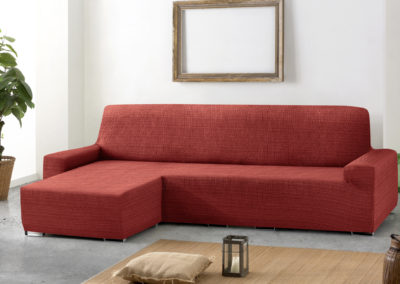 funda de sofa chaise longue ajustable color caldero